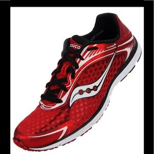 MENS SAUCONY 9 RUNNING SHOES TYPE A5 RED SNEAKERS